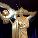 Gold Human Statue bodyart