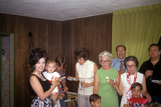 The family on my first birthday