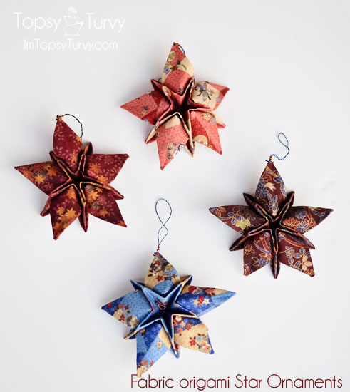 fabric-origami-christmas-star-ornaments
