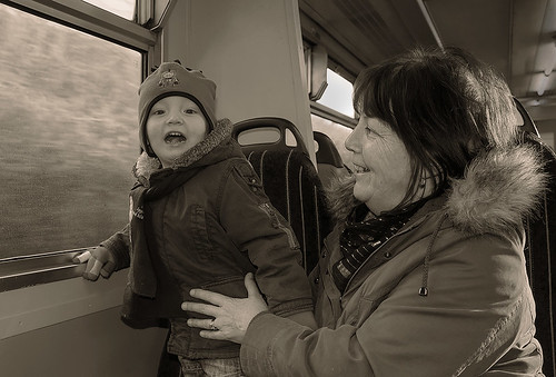 IMG_8163 Grandson Brogan And Grandma Julie First Time On A Train