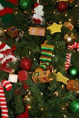 Alphabet Blocks make Christmas tree garland