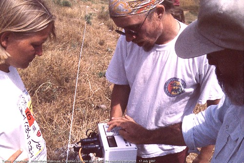 Gavurkalesi.  Mette-Marie, Rasmuss, & Stephen Lumsden learn to use the resistivity instrument.