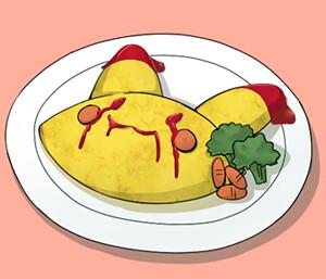 失敗了的蛋包飯~~可是很好吃的!!(/2012)