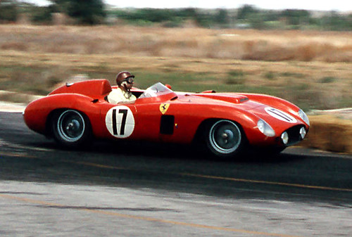 Fangio in a Ferrari 860 Monza on his way to winning at Sebring 1956