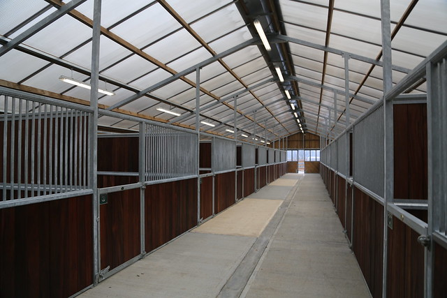 """American barn"" type stables from Monarch at Shooters Hill equestrian centre"