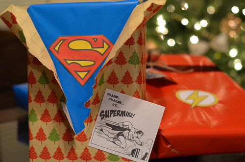 Superman gift wrap