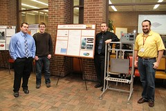 Air Knife Optimization team with poster and project