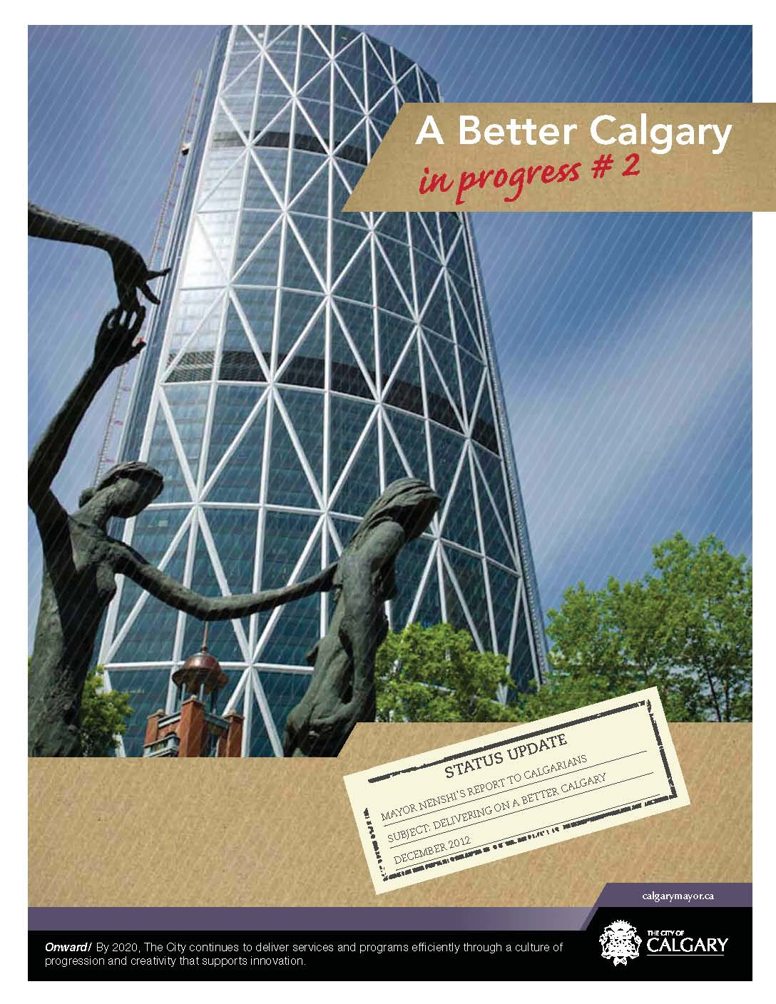 A Better Calgary in Progress #2 - Cover