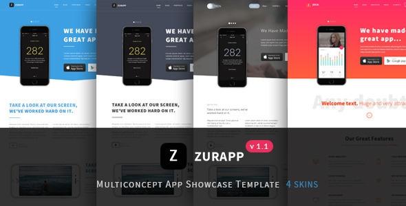 ZurApp v1.1 - Multiconcept App Showcase Template