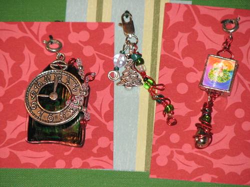 Ink Stains Altered Christmas Charm Swap 027