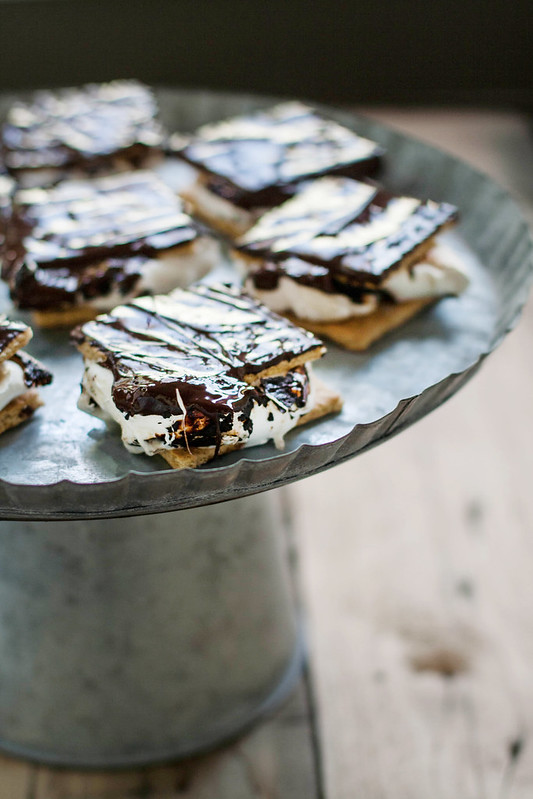 charred oak marshmallow indoor s'mores