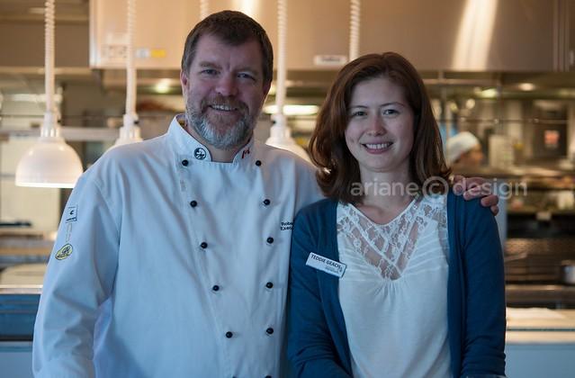 Chef Robert Clark, Vancouver Aquarium's Teddie Geach