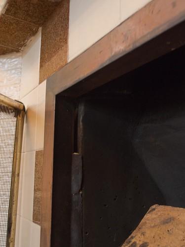 暖炉周り 壁面境目