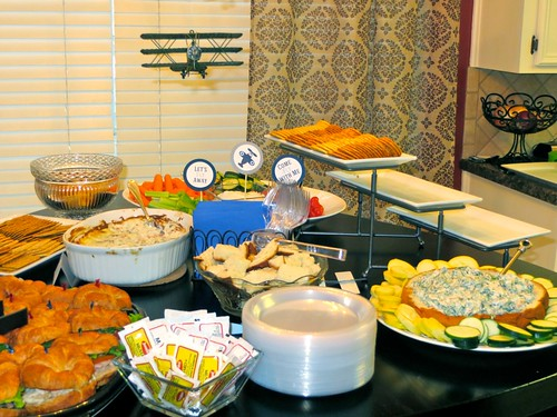 Food Table at Soney's Baby Shower