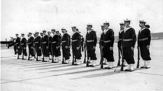 Inspection à la base Lartigues - 1956 - Photo JP Vasse (Retina Kodak)