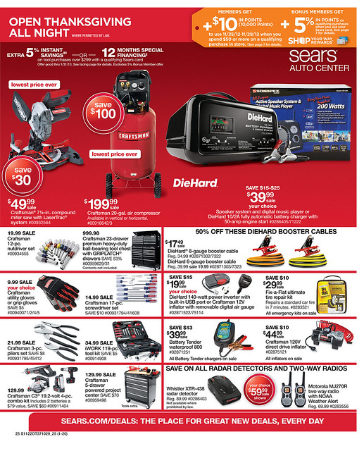 In announcing its Black Friday schedule and some of the deals customers will find, Peter Boutros, Sears' and Kmart's chief brand officer, said,
