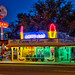 Finally, caught this place at the blue hour and with the neon lit! by dv over dt