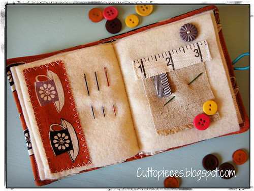 Needle book interior