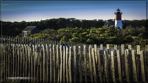 Fence at Nauset Light by Just Used Pixels