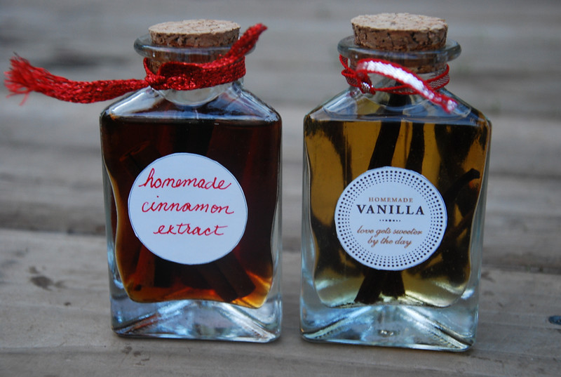 homemade vanilla and cinnamon extracts