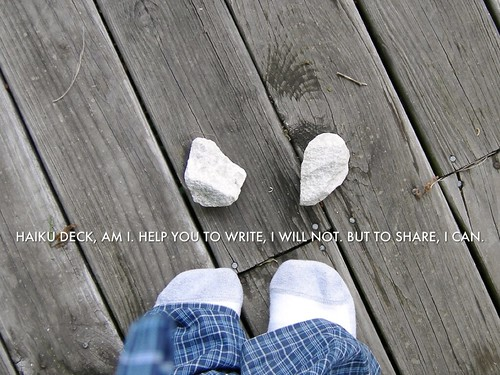 """Haiku Deck, Am I."" by aforgrave, on Flickr"