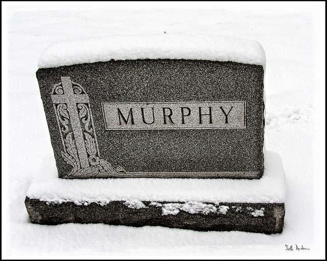 Murphy Headstone in Calvary