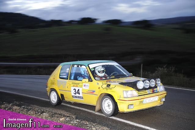 """manuel Ruiz, peugeot 205 rallye, rally sevilla 2012"""