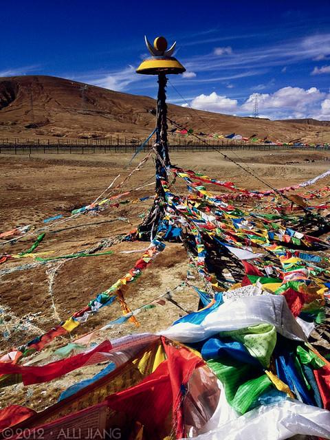 tibetan prayer flags.