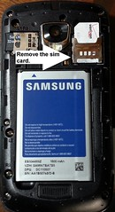 Remove the Verizon Samsung Droid Charge Sim Card