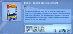 Summer Snacks Concession Stand