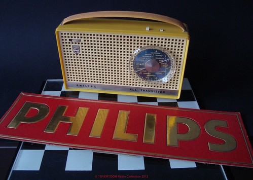 PHILIPS Portable Transistor Radio Model L3X91T-88E (Holland 1962)_4