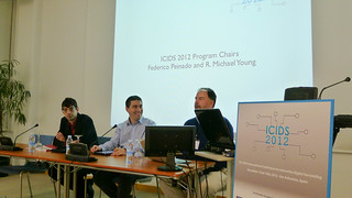 David, Federico and Michael Young introducing the conference