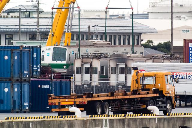東京メトロ千代田線6000系 6133F 船積み