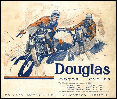 1924 Douglas Motorcycles by bullittmcqueen
