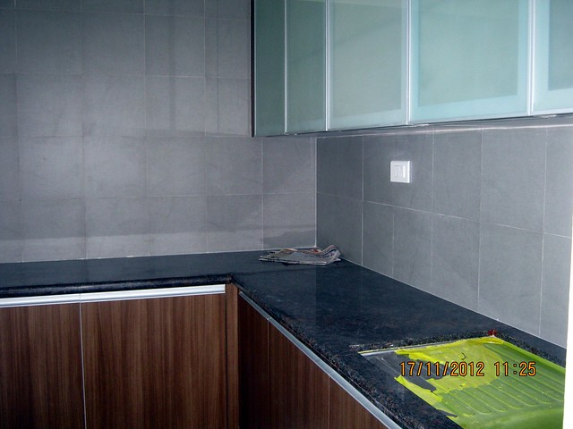 L shape kitchen platform in the show flat -  Siddhashila Eira, 2 BHK & 3 BHK Flats in 16 Story 2 Towers with Amenities & Parking on & under the Podium at Koyate Vasti, Punawale, PCMC, Pune 411033