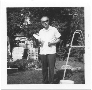 Dad in the backyard