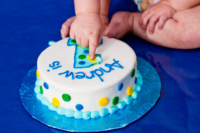 One Year Birthday Smash Cake-005