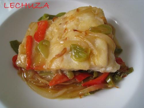 Bacalao con verduras-plato