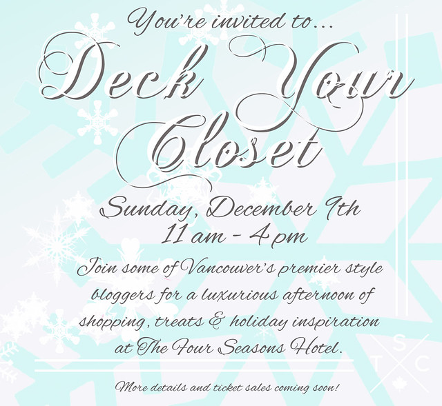 Deck Your Closet SAVE THE DATE