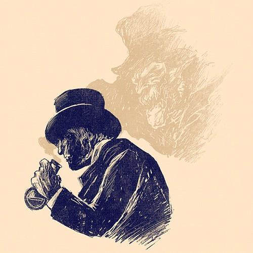 Dr Jekyll and Mr Hyde #alexmdc #oddworx #illustration