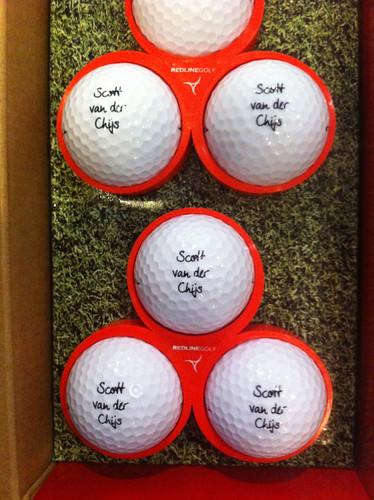 Scott got his own Redline golf balls!