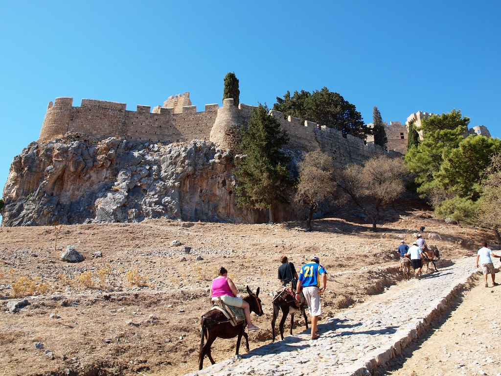 Donkey-Taxi to Acropolis of Lindos