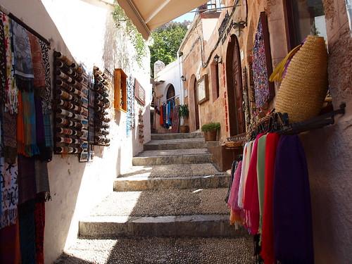 Narrow Shopping Streets, Lindos