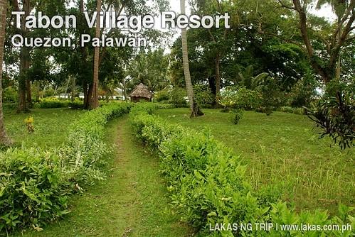 Garden at Tabon Village Resort in Quezon, Palawan