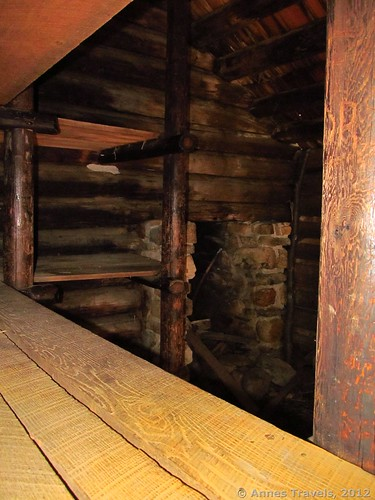 Bunks inside the huts at Jockey Hollow, Morristown National Historic Park, New Jersey