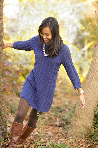 BlueSweaterDress