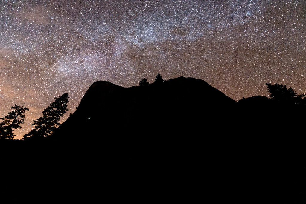 Starlight and climbers on El Capitan