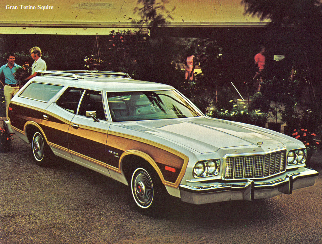 1976 ford gran torino squire station wagon by coconv on flickr