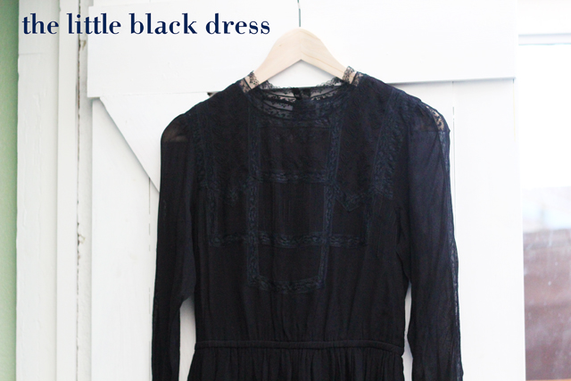 Topshop high neck lace little black party dress