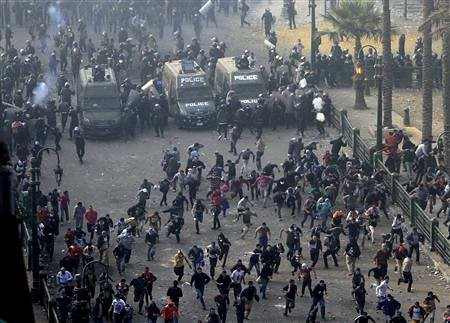 Clashes have erupted in the North African state of Egypt surrounding a series of decrees issued by President Morsi. The Muslim Brotherhood are supporting Morsi's FJP. by Pan-African News Wire File Photos